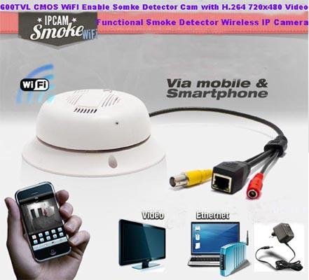 SPY Wi-Fi SMOKE DETECTER CAMERA